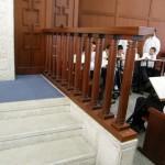 Wooden railing, Mir Yeshiva, Kiryat Sefer